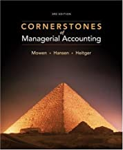 Best cornerstones of managerial accounting 3rd edition Reviews