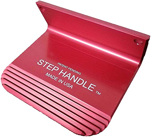 Step Handle with Patent Pending Micro Grip Avoids Virus and Germs - Made in The USA - Allows Customers to Open The Door with Their Foot - Precision Machined - Commercial Grade (red)