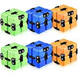 Zomiboo 6 Pieces Infinity Cube Fidget Toy Cube Game Puzzle Mini Fidgeting Cube Handheld Flip Cube Brain Teasers Toys Stress and Anxiety Relief Sensory Tool Killing Time Toys for Adults and Teens