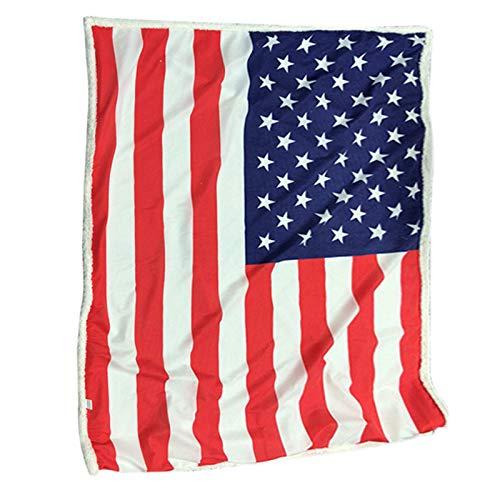 Crazyfly Manta de bandera americana, manta de impresión digital en 3D, acogedora cálida y cálida para niños adultos