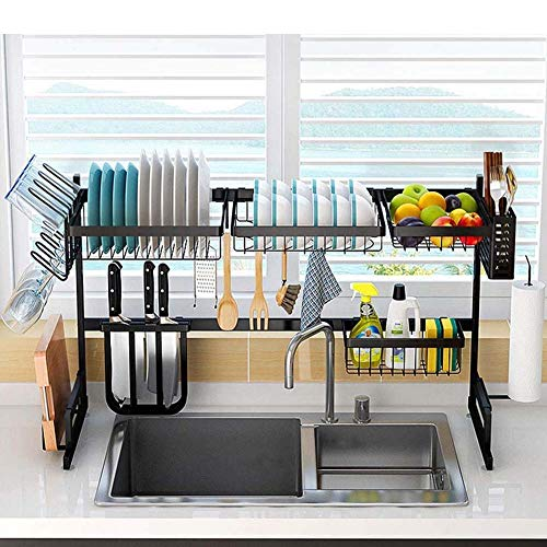 """Upgraded Over Sink(33"""") Dish Drying Rack,Stainless Steel Drainer Shelf..."""