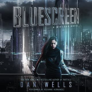 Bluescreen audiobook cover art