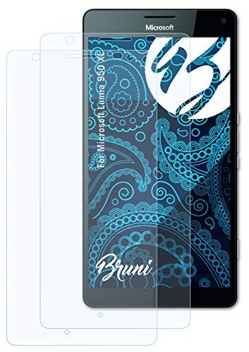 Bruni Schutzfolie kompatibel mit Microsoft Lumia 950 XL Folie, glasklare Bildschirmschutzfolie (2X)