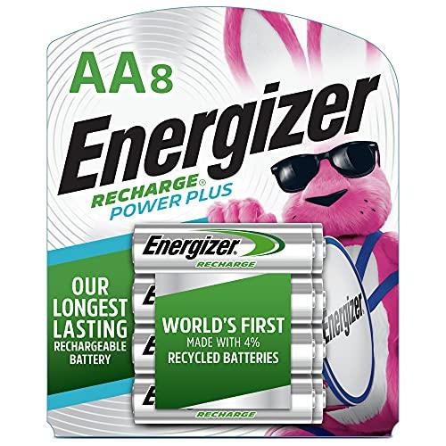 Energizer Baterias AA recarregáveis NH15BP-8, 2300 mAh, pré-carregadas, 8 unidades (Recharge Power Plus)