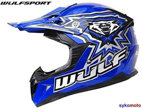 5cm Attack Gloves XXXS 3-4Yrs + Cub Abstract Goggles 47-48cm Kids Camo Suit XS Wulf Wulfsport Kids Flite Motocross Helmet Blue