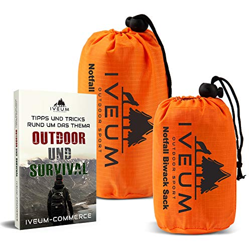 Set biwakszak en noodtent incl. eBook – noodgevallen slaapzak voor outdoor – ultralichte bivy Bag – outdoor Equipment bivack zak