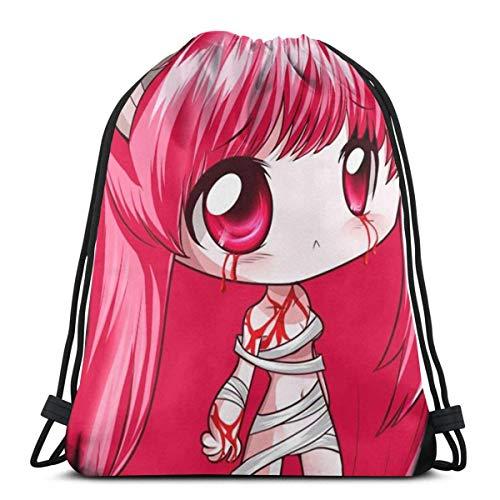 WH-CLA Drawstring Backpack Lucy-Elfen Lied Kordelzug Rucksack Verstellbar Drawstring Bag Personalisierte Gym Beutel Stilvoll Rucksack Beutel Tasche Für Herren Damen