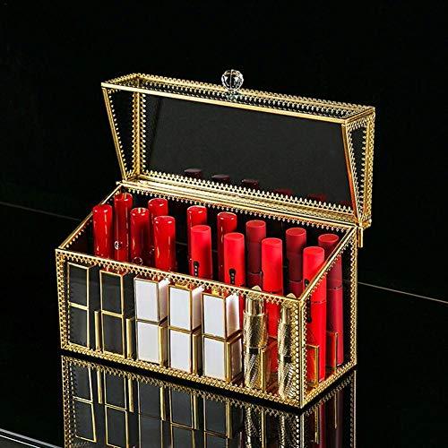 Niumen 24 Grids Clear Acryl Lipgloss Kosmetik Aufbewahrung Organizer Lippenstift Make up Box Lip Gloss Holder Organizer Vitrine Aufbewahrungsbox für Lippenstift
