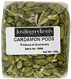 JustIngredients Essential Vainas de CardamomoVerde - 2 Paquetes de 100 gr -...
