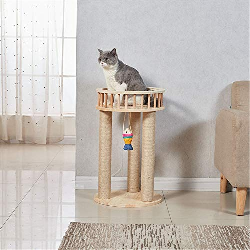 BESTSOON Cat Tree Tower Solid Wood Cat Climbing Tree Small Sisal Cat Jumping Platform Cat Litter Cat Toy Cat Scratch Board Cat Tree Kitten Furniture Activity Centre