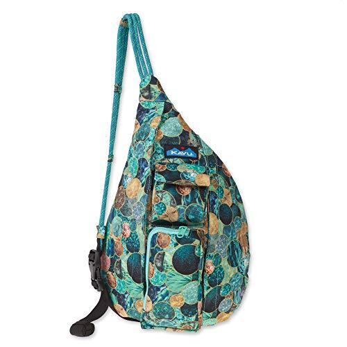 KAVU Mini Rope Sling Bag Polyester Crossbody Backpack - Sea Glitter