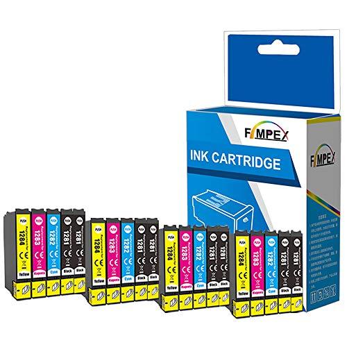 Fimpex Compatible Encre Cartouche Remplacement Pour Epson Stylus Office BX305F BX305FW Plus Stylus S22 SX125 SX130 SX230 SX235W SX420W SX425W SX430W SX435W SX438W SX440W SX445W T1285(B/C/M/Y, 20-Pack)