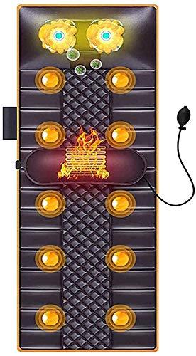 XRDSHY Colchón De Masaje Vibratorio Almohadilla De Masaje De Calefacción Cojín De Silla Masajeador De Cintura y Cuello