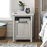 Better Homes & Gardens Modern Farmhouse End Table Nightstand with USB, Rustic White Finish