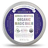 Dr. Bronner's - Organic Magic Balm (2 Ounce) - Made with Organic Beeswax and Organic Hemp Oil, Relieves and Relaxes Sore Muscles and Achy Joints, Moisturizes and Soothes Dry Skin (Arnica-Menthol)