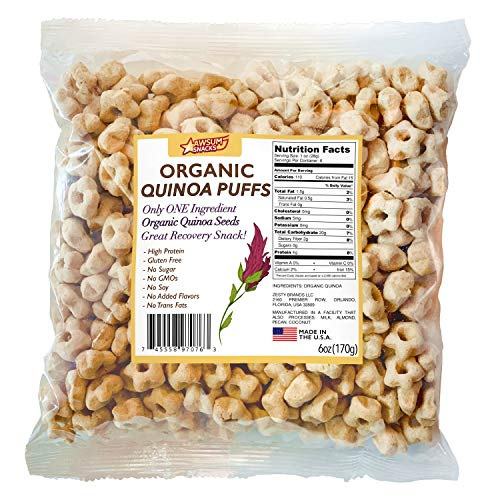 Awsum Snacks Organic Quinoa Star Puffs Cereal 6oz bag Gluten Free Snacks...