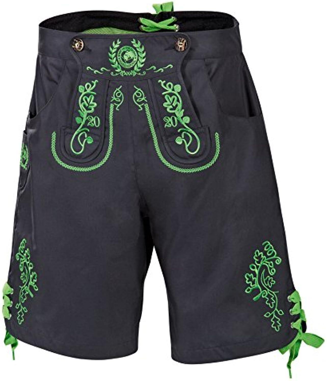 (Large, Dk Grey)  Marinepool Men's Canvas Garment Leather Anniversary Segels Shorts, Men, Funktionsseyellowekleidung Lederhose Jubilaums Segelshort, Dk