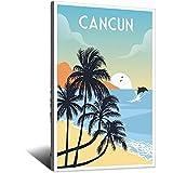 Cancun Vintage-Reise-Poster, Bild, Poster, Familie,