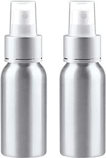 Sdootbeauty Aluminum Fine Mist Spray Bottle, 2oz Mini Metal Atomizer Bottles Refillable Empty Spray Bottles for Essential Oils, Travel, Perfume, Pack of 2