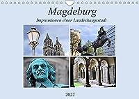 Magdeburg - Impressionen einer Landeshaupstadt (Wandkalender 2022 DIN A4 quer): Die Stadt an der Elbe schaut auf eine weit ueber 1000jaehrige Geschichte zurueck. Der Dom, die aelteste gotische Kathedrale Deutschlands, ueberragt alles und ist zugleich Wahrzeichen der Stadt. (Monatskalender, 14 Seiten )