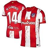 S&L Camiseta M. Llorente Atlético de Madrid Rojo 2021/22 para Hombre & Niño(Rojo,M)