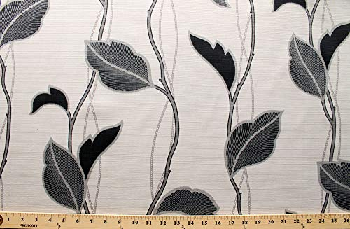 52' Home Decor Vines Leaves Branches Taupe Leaf Print Modern Linen-Look Weave Decorator Weight Fabric Print by The Yard (D791.43)