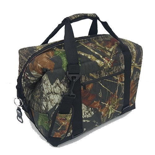 Polar Bear Coolers - Nylon Line - Quality Like No Other from The Brand You Can Trust - See Touch & Feel The Polar Bear Difference - Patent Pending - 24 Pack Mossy Oak Break Up Camo