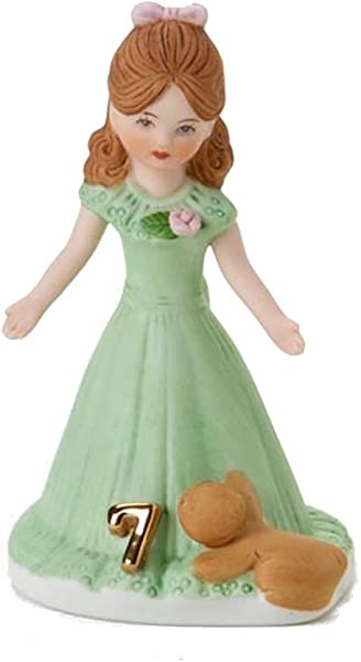 Enesco Growing Up Girls Brunette Age 7 Porcelain Figurine 4 5