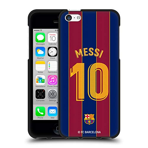 Head Case Designs Officially Licensed FC Barcelona Lionel Messi 2020/21 Players Home Kit Group 1 Black Soft Gel Case Compatible with Apple iPhone 5c