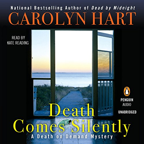 Death Comes Silently     A Death on Demand Mystery, Book 22              By:                                                                                                                                 Carolyn Hart                               Narrated by:                                                                                                                                 Kate Reading                      Length: 9 hrs     51 ratings     Overall 4.3