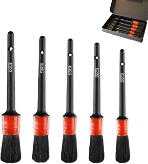 COCODE Detail Brush (Set of 5), Auto Detailing Brush Set Perfect for Car Motorcycle Automotive Cleaning Wheels, Dashboard, Interior, Exterior, Leather, Air Vents, Emblems
