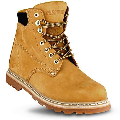 Ever Boots'Tank' Men's Soft Toe Oil Full Grain Leather Insulated Work Boots Construction Rubber Sole...