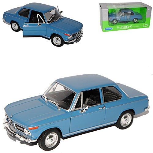 B-M-W 2002ti Coupe Blau 1966-1977 1/24 Welly Modell Auto