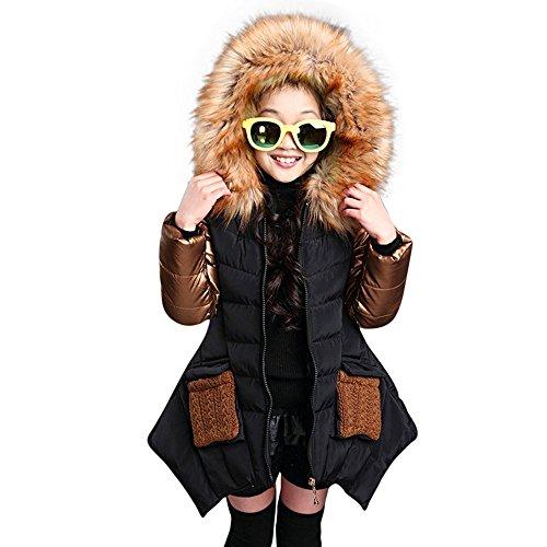 Giacche Piumino con Cappuccio Classico Ultra Leggero del Cappotto Parka Zipper Invernale per Unisex Bambine E Bambino Felpa Maniche Lunghe Baby Girl Warm Coat Abbigliamento Bambino Cotone
