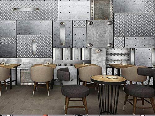 Carta da parati murale europeo e americano piastra di ferro bar coffee shop tv divano sfondo muro home decor personalizzato di qualsiasi dimensione