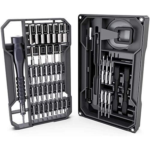 Destornilladores de precisión 73 en 1 destornillador S2 largas Bits kit de reparación de herramientas for electrónica Driver Kit magnético con eje flexible for el iPhone/teléfono Android/Tablet /