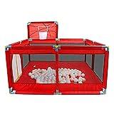 Yxsd Play Park Kinderspielpark Baby Schießen Absperrung Kindersicherheitszaun mit Basketballkorb Laufgitter