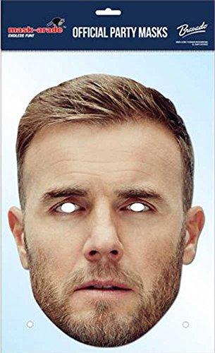 Empire Masque de Gary Barlow en Carton avec Trous pour Les Yeux et élastique 30 x 21 cm