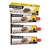 Casaimabo E000619 - Pack x3 Roe-Glue Cola de Contacto,Pegamento para Ratones, Insectos y Ratas Roe-Glue Masso 135g