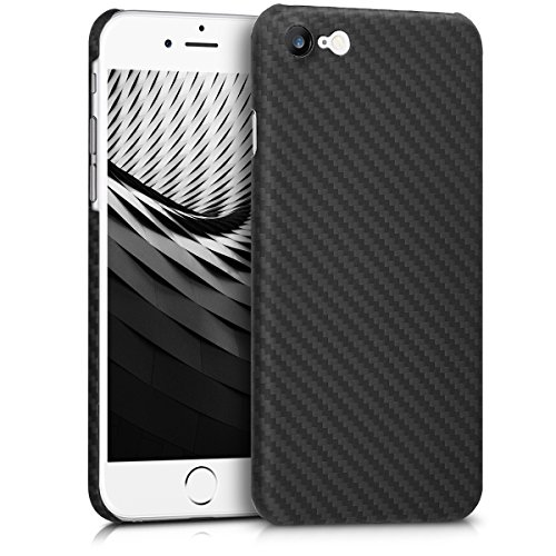 Preisvergleich Produktbild kalibri Hülle kompatibel mit Apple iPhone 7 / 8 - Aramid Handy Schutzhülle - Cover Case Handyhülle Schwarz matt