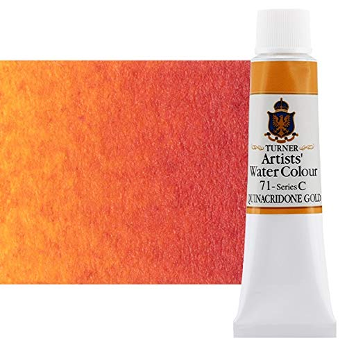 Turner Concentrated Professional Artists' Watercolor Paint 15ml Tube - Quinacridone Gold