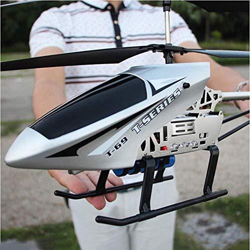 Poooc Teledirigido de radio de 2,4 GHz 3,5 Canal Gyro Helicóptero RC Aviones Uno de llaves se despegue/aterrizaje del avión Interior/Exterior Sistema estabilizador de avión RC cable de carga U