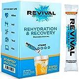 Revival, Rehidratación Rápida: Polvo de electrolitos - Potente Suplemento de Vitamina C, Bebida de...