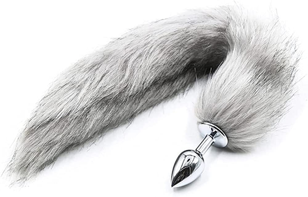 Cosplay Gray Plush Fox Tail Accessories Womans