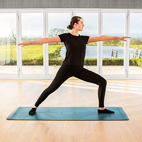 FORZA Yogamatte – umweltfreundliche Yogamatte, rutschfeste Trainingsmatte für Yoga, Pilates, Sport und Gymnastik