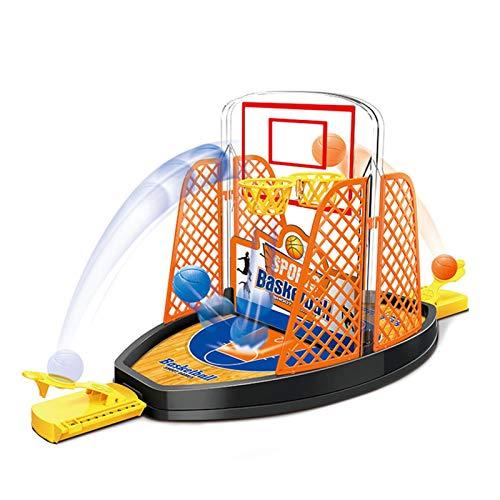PETUFUN Tabletop Mini Basket ripresa del Gioco - Gioco di tiro a Pallacanestro Giocattolo da Tavolo Divertente per sparare con Le Dita a 2 Lati