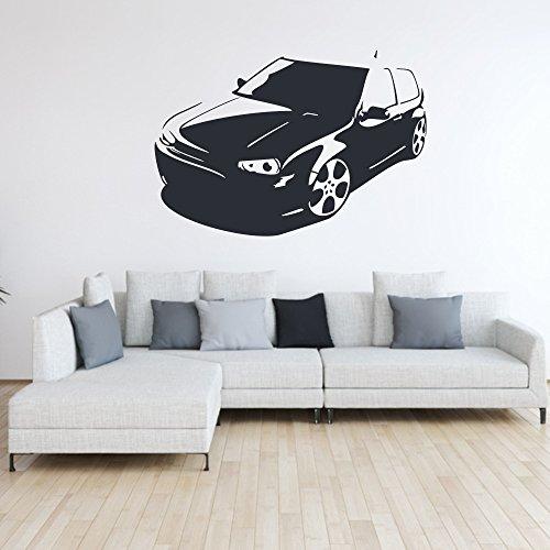 malango® Wandtattoo - Auto Fahrzeug Tuning Wand Tattoo Wandaufkleber Autowelt Männerwelt Design Style Aufkleber ca. 60 x 41 cm schwarz