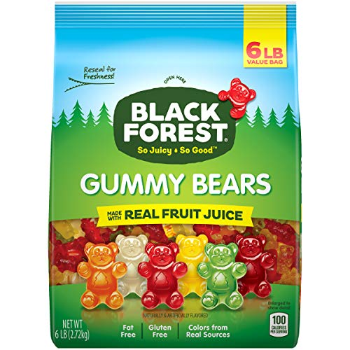 Black Forest Gummy Bears Candy, 6 Lb by Ferrara Pan Candy Co.