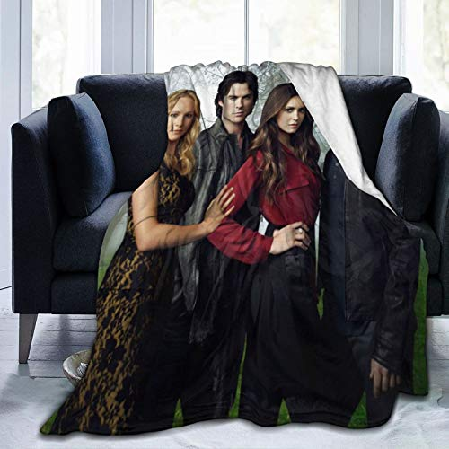 Wteqofy Soft Cozy Warm The Vampire Diaries Blankets 50'x40' inch for Bed,Couch,Chair,Car,Camping