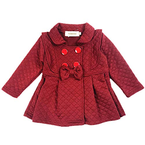 Baby Girls Outwear Trench Coat Jacket 6M-4T Kids Clothes (Purple, 3T / Tag11)